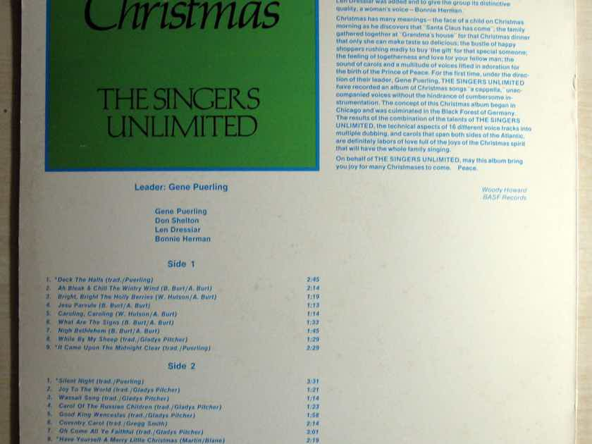 The Singers Unlimited - Christmas - 1972 BASF / MPS Records MB 20904