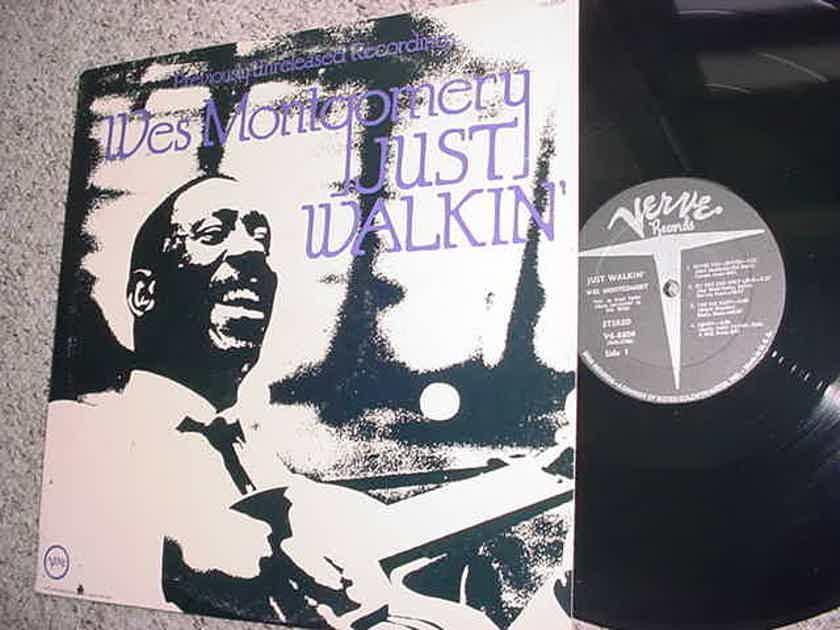 jazz Wes Montgomery  - lp record just walkin  1971 verve V6-8804