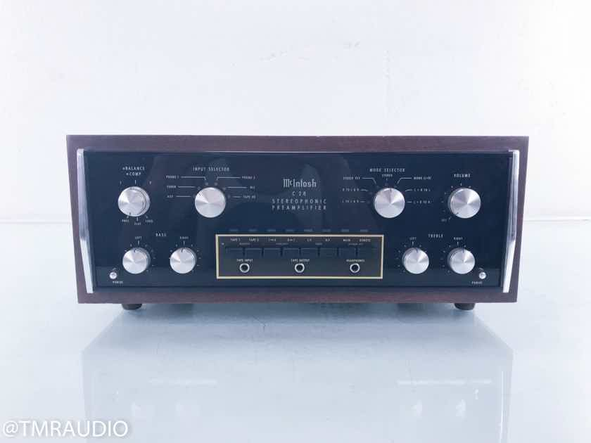 McIntosh C28 Stereo Preamplifier; Vintage Black Walnut Case; C-28 (13605)