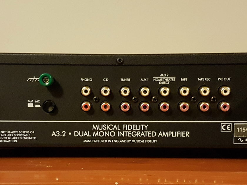 Musical Fidelity A3.2 Integrated Amplifier.