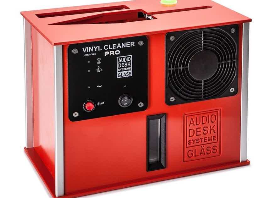 Audio Desk Systeme Vinyl Cleaner PRO Ultrasonic Record Cleaner; Red (New) (19066)