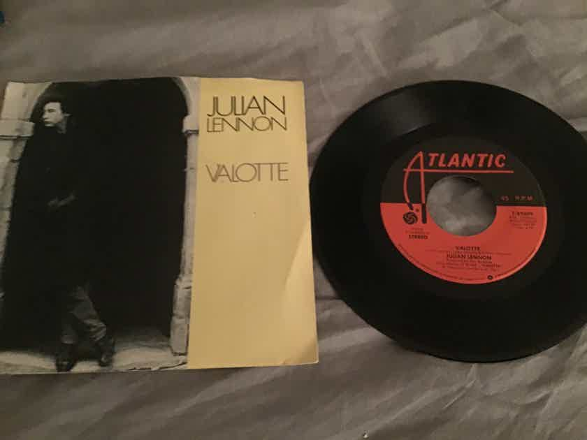 Julian Lennon  Valotte 45 With Picture Sleeve