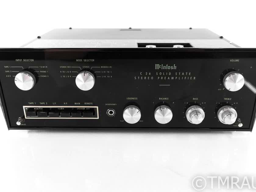 McIntosh C26 Vintage Stereo Preamplifier; C-26 (21867)