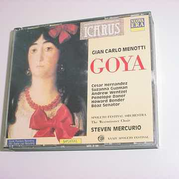 Gian Carlo Menotti GOYA 2 CD SET ITALY Steven Mercurio digital 1992