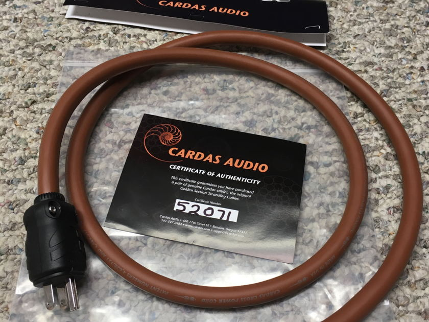 Cardas Audio Cross 1.5 M Power Cord  with Certificate