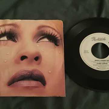 Cyndi Lauper What's Going On 45 With Picture Sleeve Promo