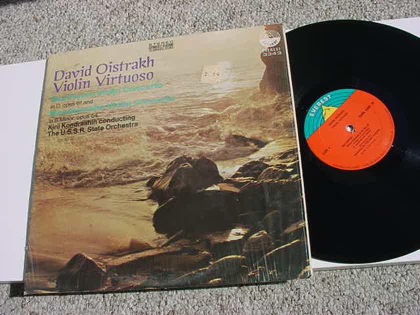 David Oistrakh violin virtuoso lp record Beethoven Mendelssohn Kiril Kondrashin