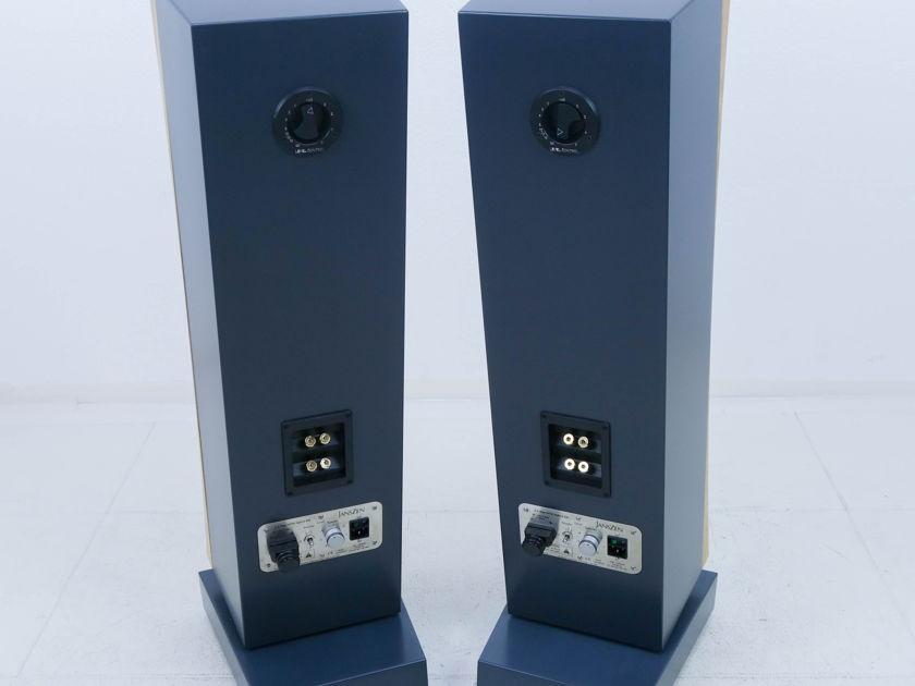 Janszen zA2.1 Electrostatic Hybrid Floorstanding ESL Speakers; Natural Honey Ash Pair (11101)