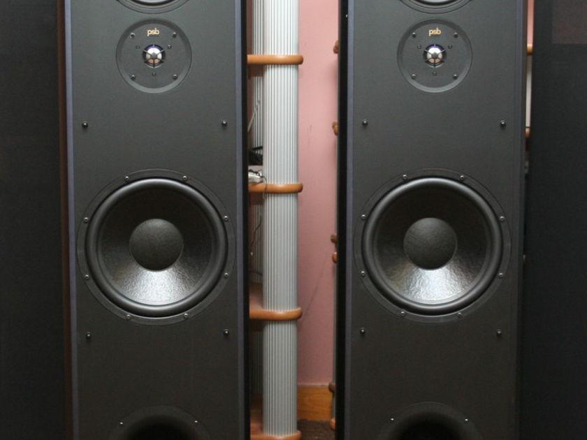 PSB Stratus Goldi Speakers, Dark Cherry