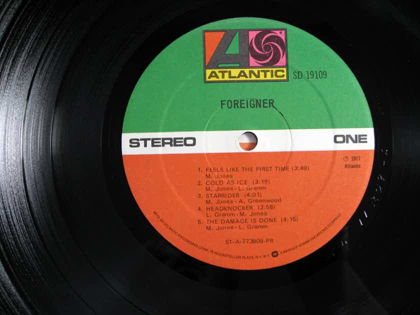 Foreigner  - Foreigner  - 1977  Atlantic SD 19109