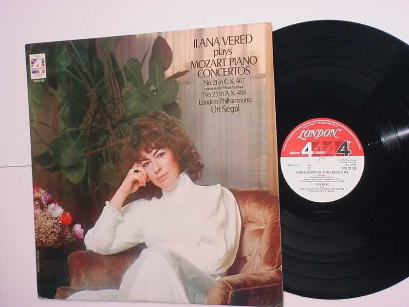 Ilana Vered plays Mozart piano concertos LP Record London Phase 4 stereo Uri Segal