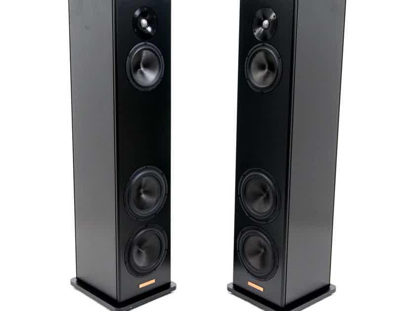 Magico A3 Floorstanding Speakers; Black Pair w/ APod Spikes (19338)