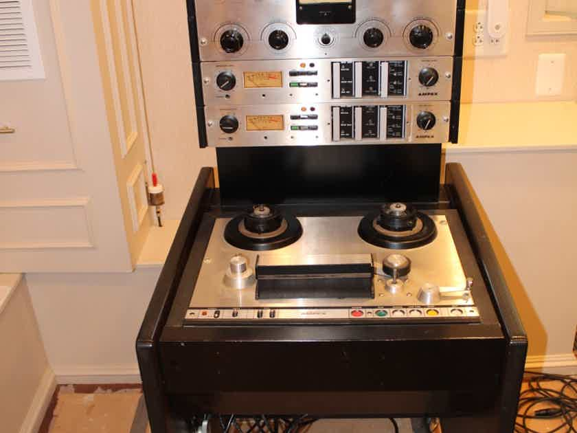 """Ampex 440C 1/4"""" 2-track Tape Recorder with additional 351-2 electronics and 2-track playback head"""