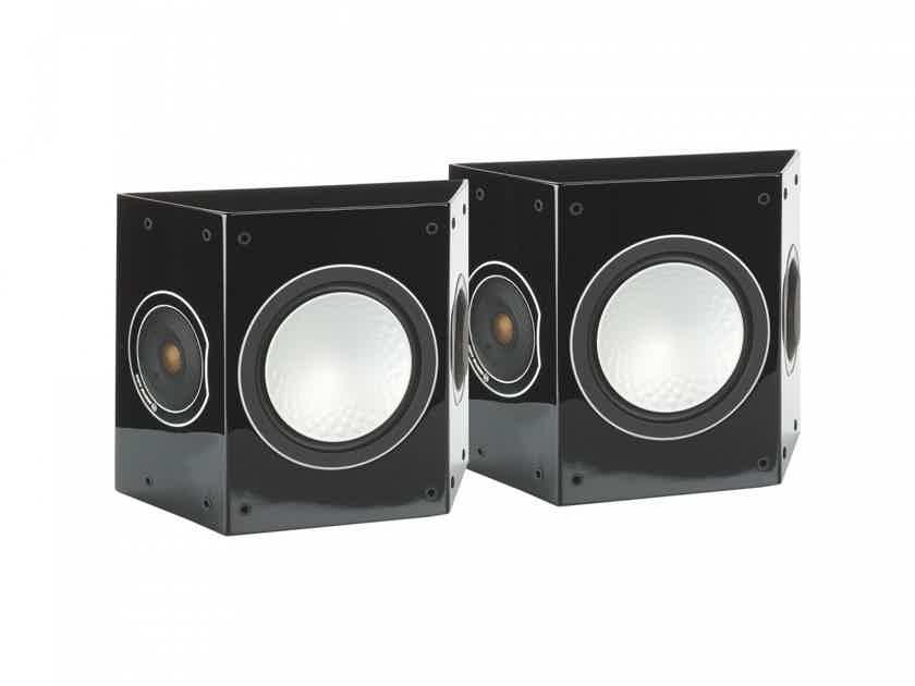 Monitor Audio Silver FX Surround Speakers; Gloss Black Pair (New) (26706)
