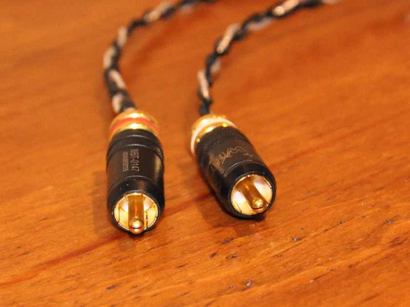 Kimber Kable Silver Streak SE 0.5m RCA Interconnects with WBT 0147 Connectors