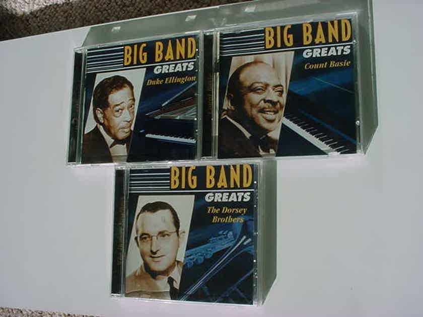 BIG BAND Greats lot of 3 cd's - Count Basie Duke Ellington The Dorsey Brothers  direct source 2000