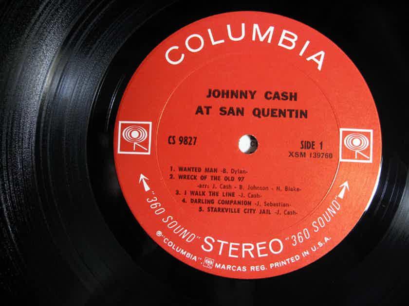Johnny Cash - Johnny Cash At San Quentin - Original Pitman Pressing 1969 Columbia CS 9827