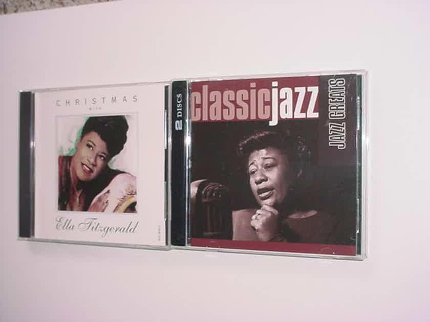 JAZZ Ella Fitzgerald jazz greats 2 cd set - plus Christmas with Ella cd