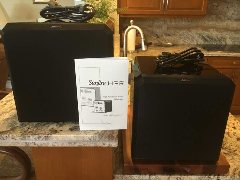 (Two) Sunfire HRS-10 Powered Subwoofers (1,000W ea)