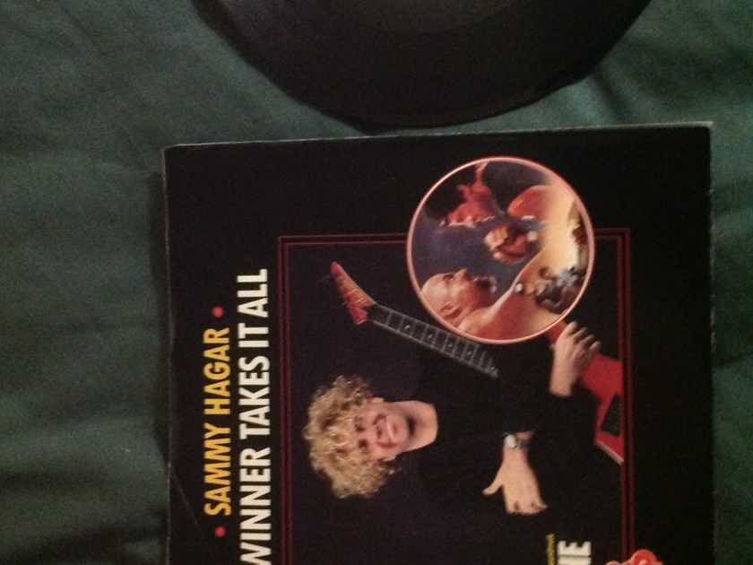 Sammy Hagar - Winner Takes It All Columbia Records Promo 45 Single  With Picture  Sleeve NM