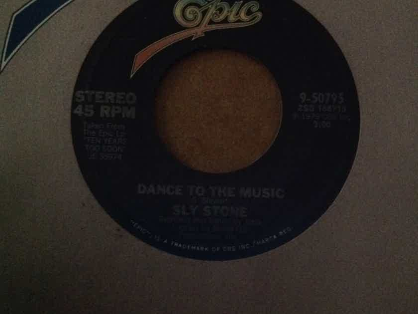 Sly Stone - Dance To The Music/Sing A Simple Song Epic Records 7 Inch Single Vinyl NM