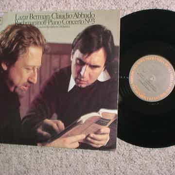 Lazar Berman Claudio Abbado lp record Rachmaninoff piano concerto no3 COLUMBIA M34540