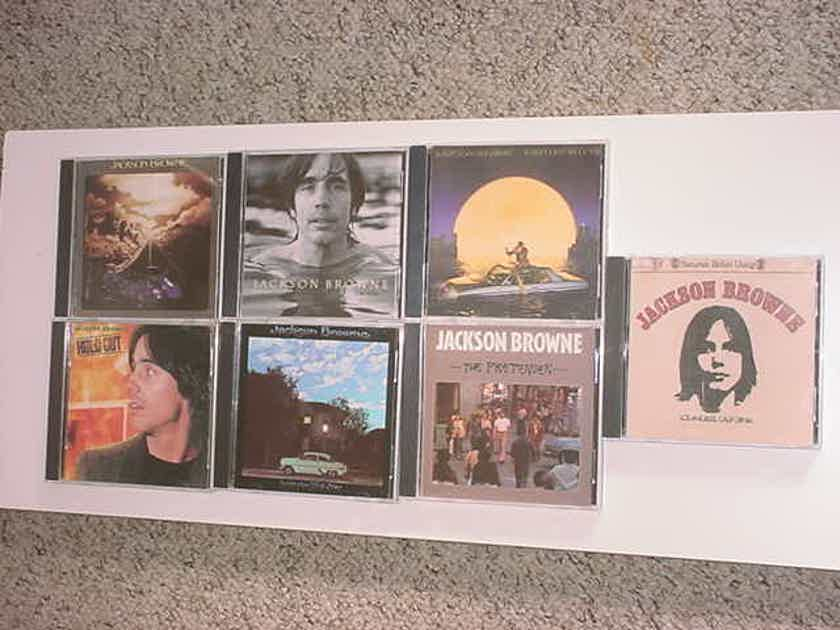 Jackson Browne cd lot of 7 cd's - late for the sky hold out the pretender running on empty I'm alive lawyers in love saturate