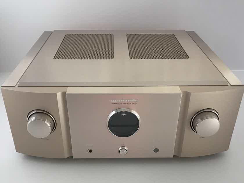 Marantz PM-10  Reference Integrated Amplifier with built in Moving coil and Moving magnet Phono stage. Can be used as a Stand  alone Power amp with a direct  input from Separate preamp. Rated at 200 watts into 8 ohms and 400 into 4 ohms