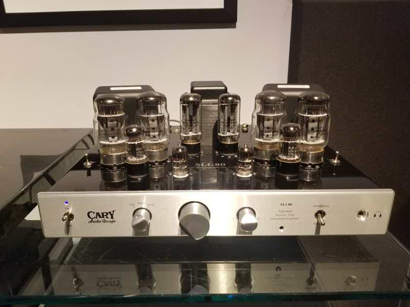 Cary Audio SLI-80 Signature Integrated Tube Amplifier w/ Box, Manual, & Remote.
