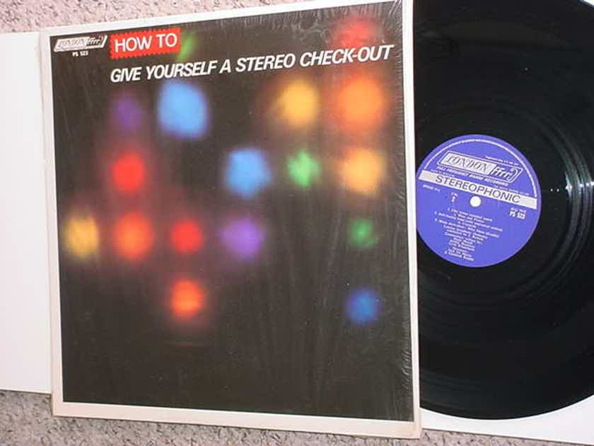 How to give yourself a stereo check out - lp record test record  1967 LONDON FFRR PS 523