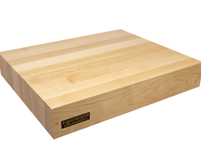 "Butcher Block Acoustics 19"" X 18"" X 3"" Maple Edge-Grain Audio Platform"