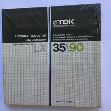 TDK LX 35/90 reel to reel tape New sealed low noise high output  7 inch