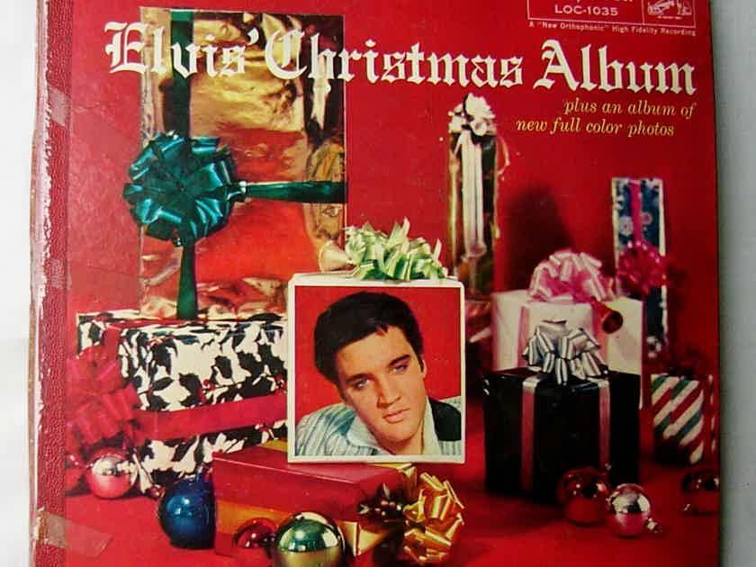 ELVIS PRESLEY-- - Mega RARE 1957 Christmas cover album-- wide size RCA Victor LOC 1035