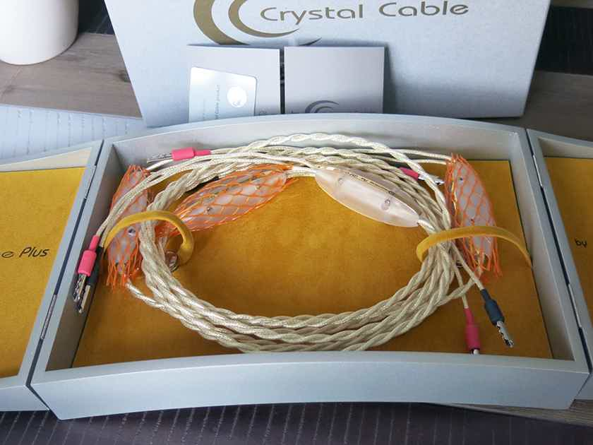 Crystal Cable DREAMLINE PLUS speaker cables 2.5M bananas in mint condition