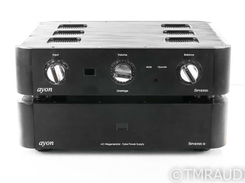 Ayon Spheris III Stereo Tube Preamplifier; Remote; Spheris 3 (20340)