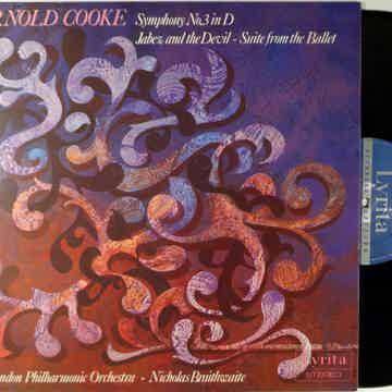 ARNOLD COOKE, BRAITHWAITE, LONDON PHILHARMONIC SYMPHONY 3 3 IN D, JABEZ AND THE DEVIL-LYRITA