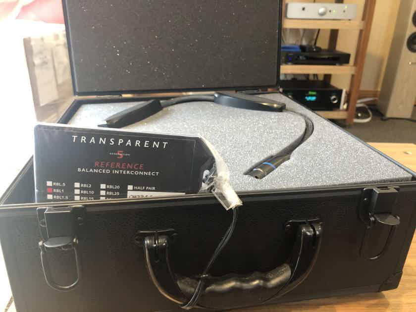 Transparent Audio Reference Balanced XLR RBL1 Gen5 HiZ