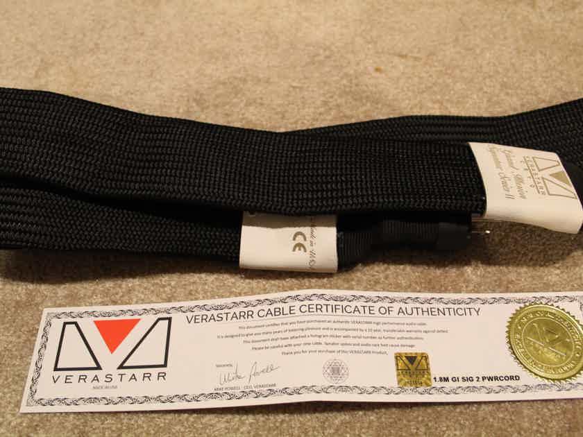 Verastarr Audio  Grand Illusion Signature Series 2 Silver Foil Power Cord