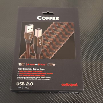 AudioQuest Coffee USB Cable. 3 Meters. USB A to B.