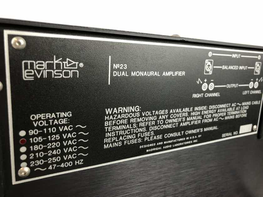 Mark Levinson No 23 Dual Monaural Solid State Amplifier