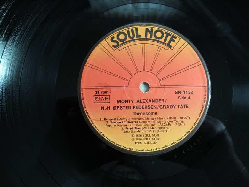 Monty Alexander, Pedersen, Ta - Threesome -  1986 Italy Soul Note SN 1152