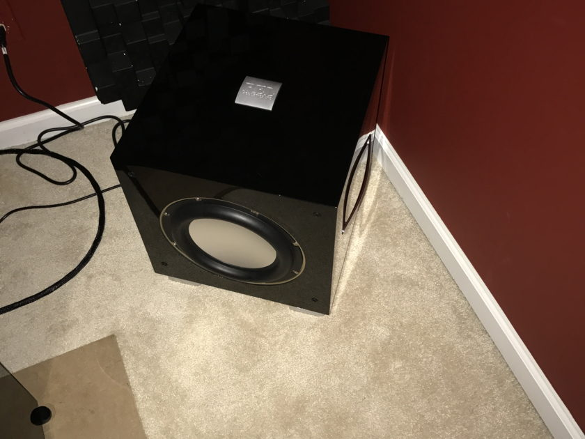 REL Acoustics S-3 SHO gloss black Subwoofers (pair) Virtually New!!