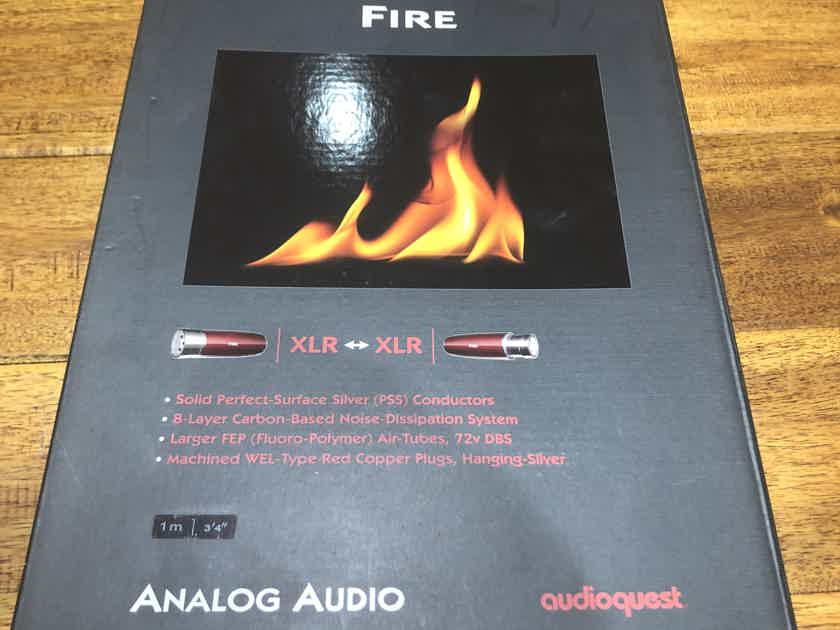 AudioQuest Fire XLR 1m Pair Brand New Silver Interconnects