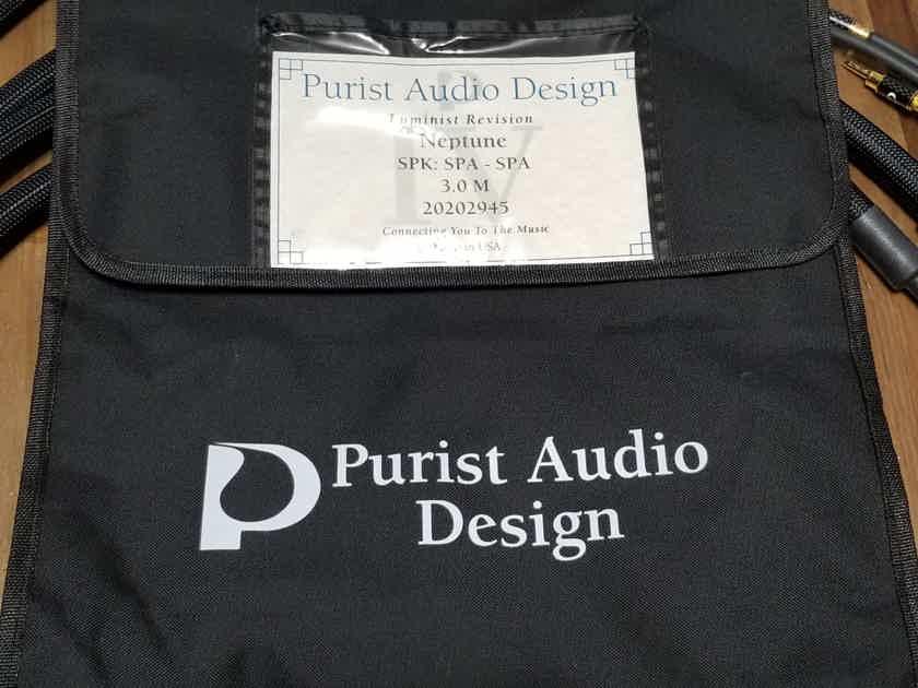 Purist Audio Design Neptune Luminist Revision 3m Speaker Cables (Price Reduced!)