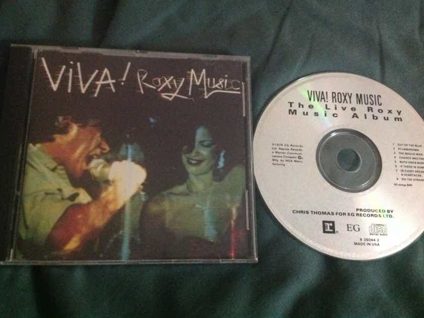 Roxy Music - Viva! Roxy Music The Live Roxy Music Album E.G. Reprise Records Compact Disc