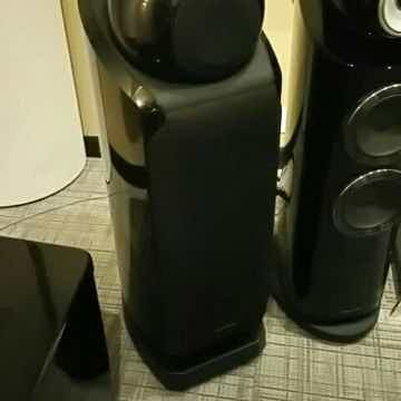Speakers with grills on