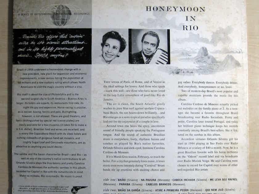 Orlando Silveira / Carolina Cardoso De Meneses - Honeymoon In Rio - 1956 Capitol Records T10038