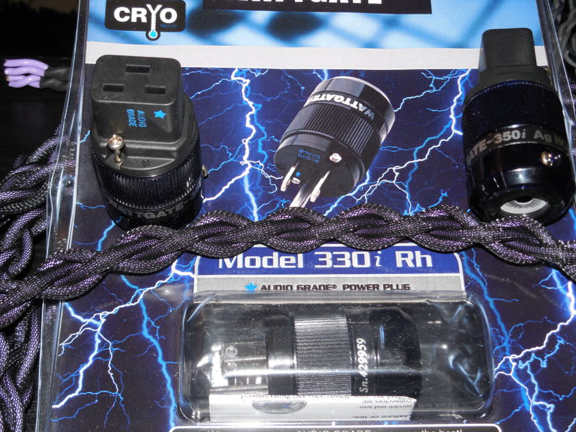 SILVER Braided 20 Amp Power cord Silver Ghost WATTGATE BLUE STAR ( Audio Research upgrade)