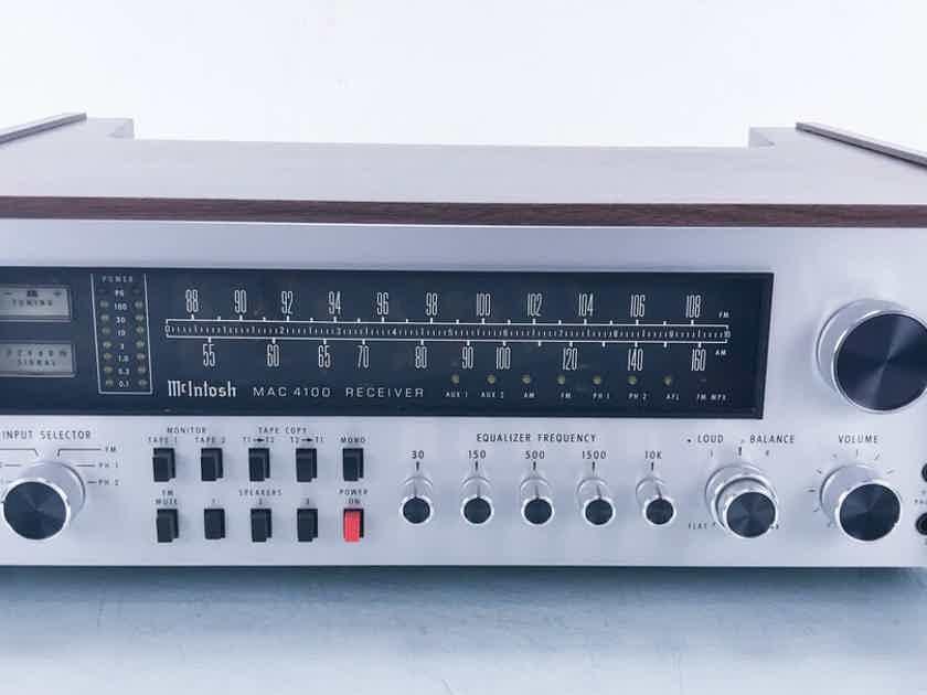 McIntosh MAC 4100 Vintage Stereo Receiver Silver (16280)