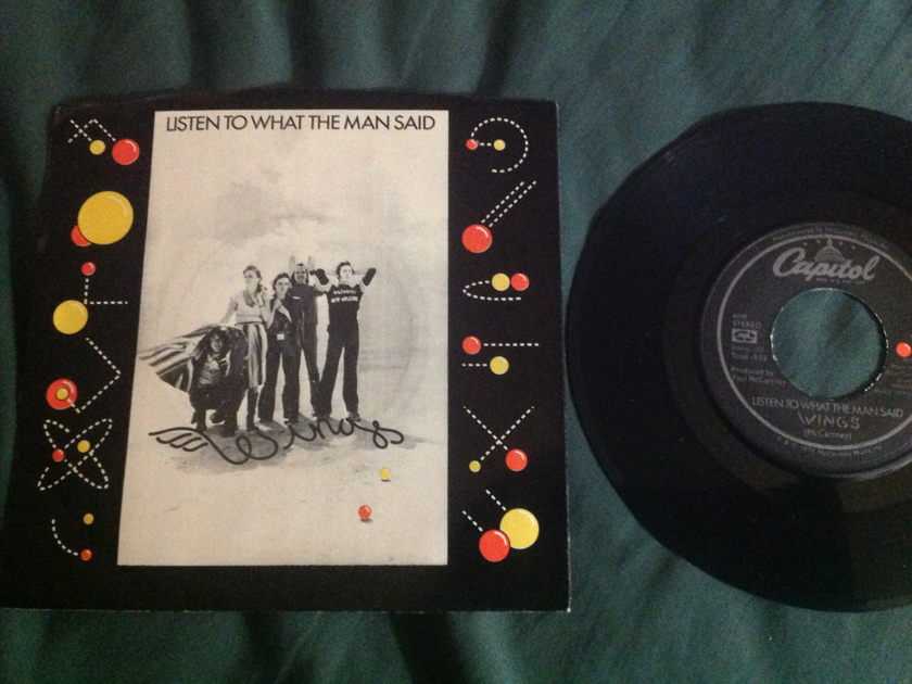 Wings - Listen To What The Man Said 45 With Sleeve